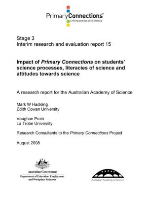 Impact of Primary Connections on students' science processes, literacies of science and attitudes towards science