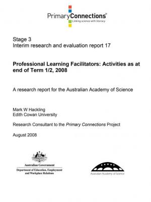 Professional Learning Facilitators: Activities as at end of T1 1/2, 2008