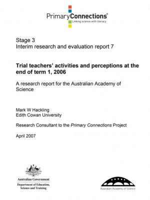 Trial teachers' activities and perceptions end of Term 1, 2006